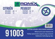 91003 ROMIX - ZESTAW MOC. NADKOLI CITROEN PEUGEOT !!WebTerminal - Sprzedaż tylko w opakowaniach!!