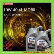 10W-40 4L MOBIL PROMOCJA - OLEJ SILNIKOWY 10W-40 4L MOBIL 2000 X 1 BENZYNA API SL A3/B3