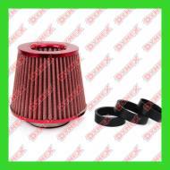 01042/71164 AMIO - Filtr powietrza stożkowy CZERWONY + 3 ad