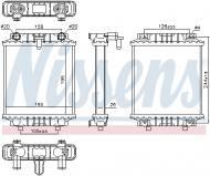 60339 NISSENS - CHŁODNICA WODY AUDI A6 3.0 TFSI  11-