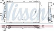 60465A NISSENS - CHŁODNICA WODY AUDI 80 / 90 (B4) (91-), AUDI 80 / 90 QUATTRO
