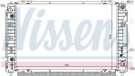 62004 NISSENS - CHŁODNICA WODY FORD MAVERICK (TM) (02-), FORD USA ESCAPE (02