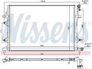 65017 NISSENS - CHŁODNICA WODY VW JETTA IV (162, 163) (10-), VW PASSAT B7 (3
