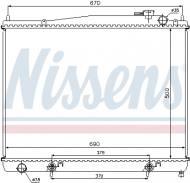 68715 NISSENS - CHŁODNICA WODY INFINITI QX, NISSAN PATHFINDER II (R50) (97-)