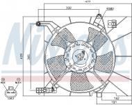85063 NISSENS - WENTYLATOR CHŁODNICY CHEVROLET AVEO (T250, T255) (05-), CHEV