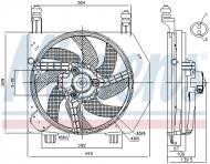 85172 NISSENS - WENTYLATOR CHŁODNICY FORD FIESTA IV (DX) (95-), FORD PUMA (C