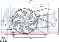 85482 NISSENS - WENTYLATOR CHŁODNICY FORD MONDEO III (GE) (00-)