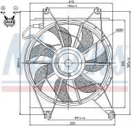 85620 NISSENS - WENTYLATOR CHŁODNICY HYUNDAI ACCENT  (X3) (94-)