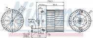 87057 NISSENS - DMUCHAWA KABINOWA OPEL ASTRA F (91-), OPEL ASTRA F CLASSIC (