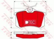 GDB1330DTE TRW - KLOCKI HAMULCOWE TYLNE DTEC AUDI ALLROAD 2000 - 2005, A1 201