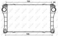 30243 NRF - INTERCOOLER TOYOTA AVENSIS 08-