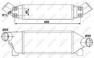30259 NRF - INTERCOOLER FORD TOURNEO 00-