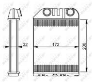 54287 NRF - NAGRZEWNICA OPEL VAUXHALL VECTRA LHD 95-02