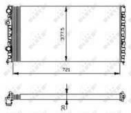 54696 NRF - CHŁODNICA WODY VW PASSAT 88-