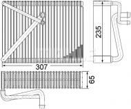 AE87000P MAHLE - PAROWNIK KLIMATYZACJI BEHR PREMIUM LINE