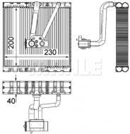 AE93000P MAHLE - PAROWNIK KLIMATYZACJI BEHR PREMIUM LINE
