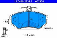 13.0460-2934.2 ATE - KLOCKI HAMULCOWE AUDI 80 86-95