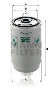 WK842/2 MANN - FILTR PALIWA - DIESEL