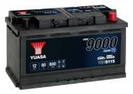 YBX9115 YUASA - AKUMULATOR 80AH/800A P+ YUASA AGM START&STOP YUASA