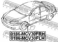 0186-MCV30FRH FEBEST - CHLAPACZ PRZEDNI PRAWY TOYOTA CAMRY ACV3 2001.09-2006.01 JP