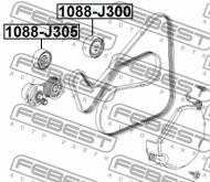 1088-J300 FEBEST - ROLKA OPEL ANTARA 2006-