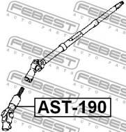 AST-190 FEBEST - WAŁ NAPĘDOWY DOLNY TOYOTA CORONA AT190,CT19,ST19 1992.02-199