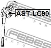 AST-LC90 FEBEST - KRZYŻAK KOLUMNY KIEROWNICZEJ TOYOTA LAND CRUISER 90 KZJ9,LJ9