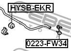 HYSB-EKR FEBEST - GUMA STAB. TYŁ D14.8 HYUNDAI SONATA (NF) 2005-2010