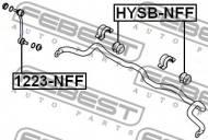 HYSB-NFF FEBEST - GUMA STAB. PRZÓD D26.8 HYUNDAI SANTA FE 10 (2010-) GEN