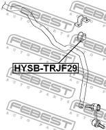 HYSB-TRJF29 FEBEST - GUMA STAB. PRZÓD D29 HYUNDAI TRAJET XG 99