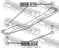 MSB-034 FEBEST - GUMA ŁYŻWY MITSUBISHI LANCER/MIRAGE CJ-CP 1995.08-2000.08 JP