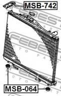 MSB-742 FEBEST - GUMA MOCOWANIA CHŁODNICY MITSUBISHI CHALLENGER K90 1996.05-2