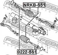 NRKB-S51 FEBEST - OSŁONA PRZEKŁADNI KIEROWNICZEJ NISSAN TEANA J31 2006.04-2008