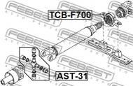 TCB-F700 FEBEST - ŁOŻYSKO WAŁU NAPĘDOWEGO TOYOTA AVANZA F601,F602 2003.12-2011