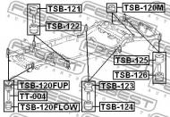 TSB-120FLOW FEBEST - PODUSZKA TOYOTA LAND CRUISER PRADO GRJ12,KDJ12,RZJ12,TRJ12,V