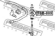 TSB-809 FEBEST - GUMA STAB. TOYOTA COROLLA SED/CP/WG AE10,CE100,EE10 1991.08-