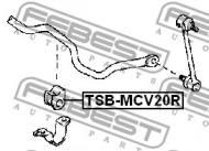 TSB-MCV20R FEBEST - GUMA STAB. TYŁ D17 TOYOTA CAMRY MCV20,SXV20 1996.08-2001.09