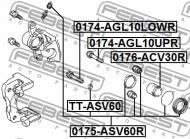 TT-ASV60 FEBEST - USZCZELNIACZ TOYOTA RAV4 ACA3,ALA3,GSA33,ZSA3 2005.11-2012.1