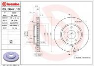 09.B647.11 BREMBO - TARCZA HAM. MITSUBISHI LANCER 08-