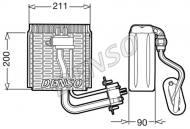 DEV12002 DENSO - Parownik, klimatyzacja IVECO DAILY III 2.3D/2.8D/3.0D 05.99-07.07