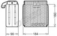 DEV23001 DENSO - Parownik, klimatyzacja CLIO III (BR0/1, CR0/1)