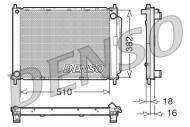 DRM23100 DENSO - CHŁODNICA WODY RENAULT  CLIO III / MODUS