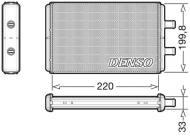 DRR12016 DENSO - Wymiennik ciepła, ogrzewanie wnętrza IVECO Daily  S 2000  (S1A) +/-