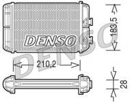 DRR20004 DENSO - Wymiennik ciepła, ogrzewanie wnętrza Opel Astra G & H    +automat - Alfa Romeo 156  210X184X25 //