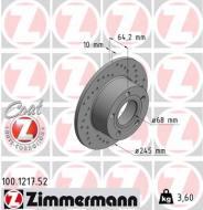100.1217.52 ZIM - TARCZA HAMULC. AUDI A6  94- ,VW PASSAT