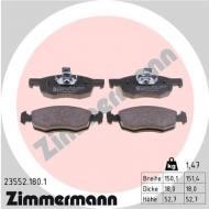23552.180.1 ZIM - KLOCKI HAMULC. FIAT DOBLO 1,2-1,9JTD  00