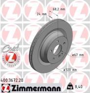 400.3672.20 ZIM - TARCZA HAMULC. MERCEDES W211 E-KLASA  06