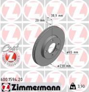 600.1594.20 ZIM - TARCZA HAMULC. VW GOLF II,III  84-97 WEN