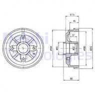 BF324 DELPHI - BĘBEN HAMULCOWY 180 X 80  1.1-1.6 ,1.9D