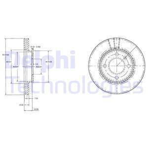 BG2109 DELPHI - TARCZA HAMULCOWA PRZEDNIA 1.6 GTI-GLI,1.8GLI-GTI 82-921.8GT-